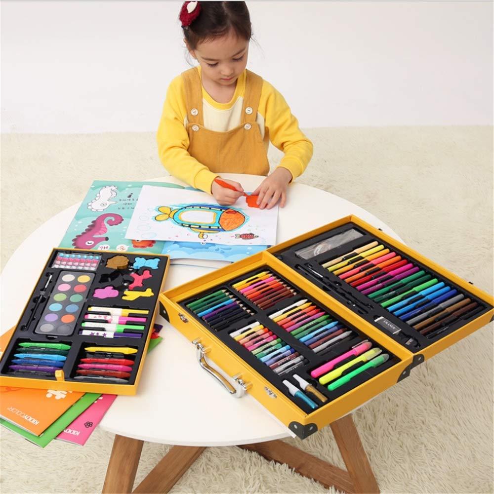JIANGXIUQIN Artist Art Drawing Set, 159 Pieces of Art Supplies Painting Fun Children Super Surprise Gift, Joyful/Non-Toxic Gifts for Children and Children. (Color : Yellow) by JIANGXIUQIN (Image #5)
