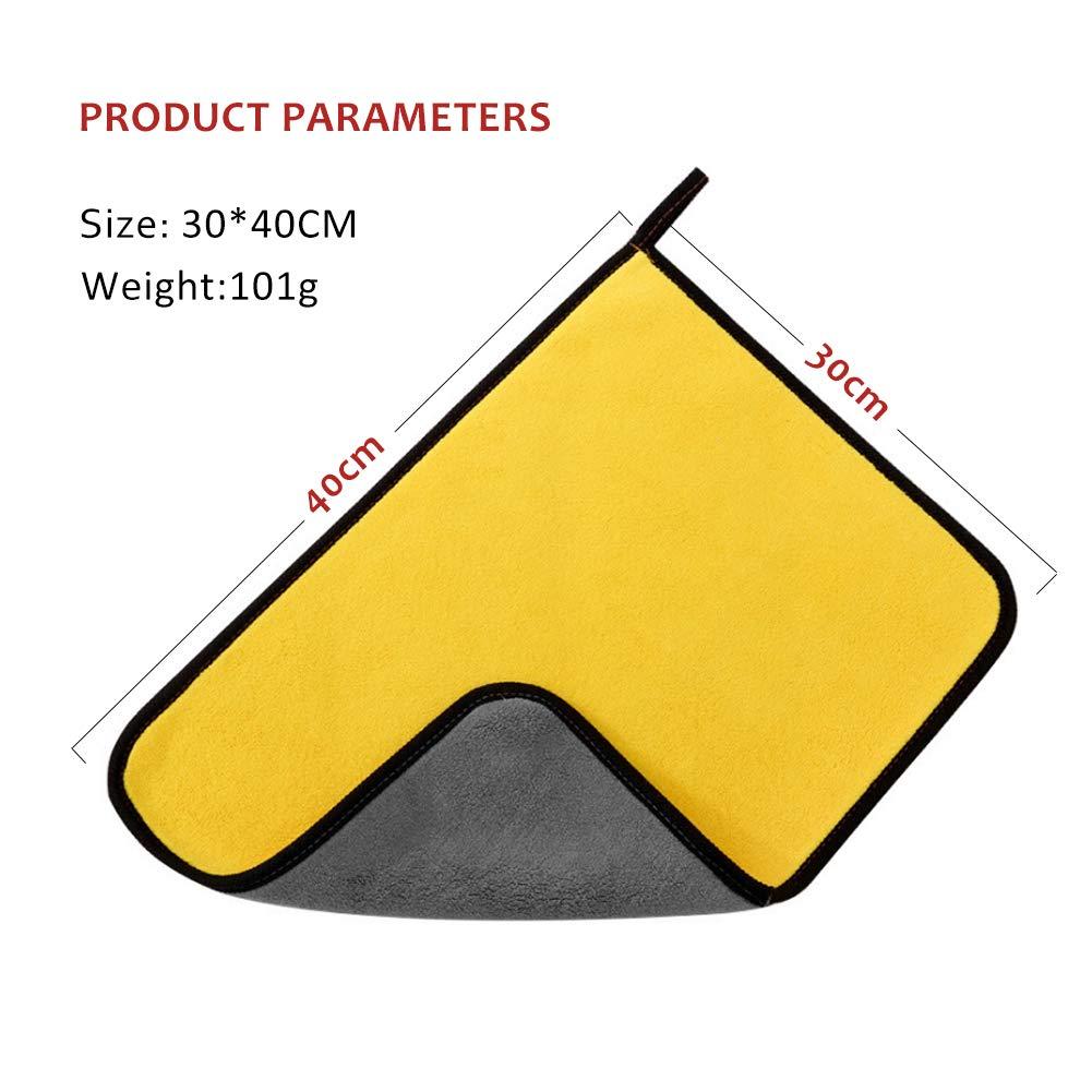 Panno per lucidatura per la Cura dellauto qualit/à Premium per Uso Guanti in Silicone Panno in Microfibra per Auto 1200GSM MYSBIKER 3X Panno in Microfibra