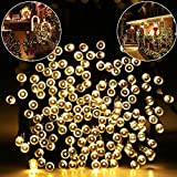 Solar String Lights 72ft 200 LED Fairy String Lights, Ambiance lighting for Outdoor, Patio, Lawn, Landscape, Fairy Garden, Home, Wedding, Holiday, Christmas Party, Xmas Tree,waterproof (Warm White)