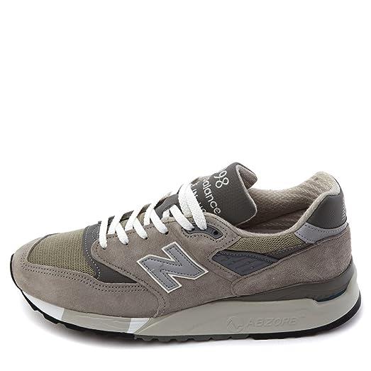Men's 998 Classic Running Shoes M998 Grey (8 M US)