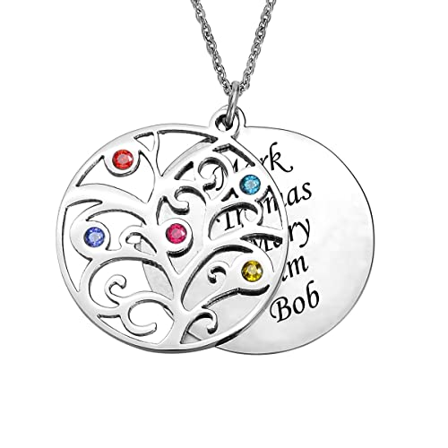 familywindowrndlrglrg birthstone large silver productinfo pendant sterling clearance family round windows