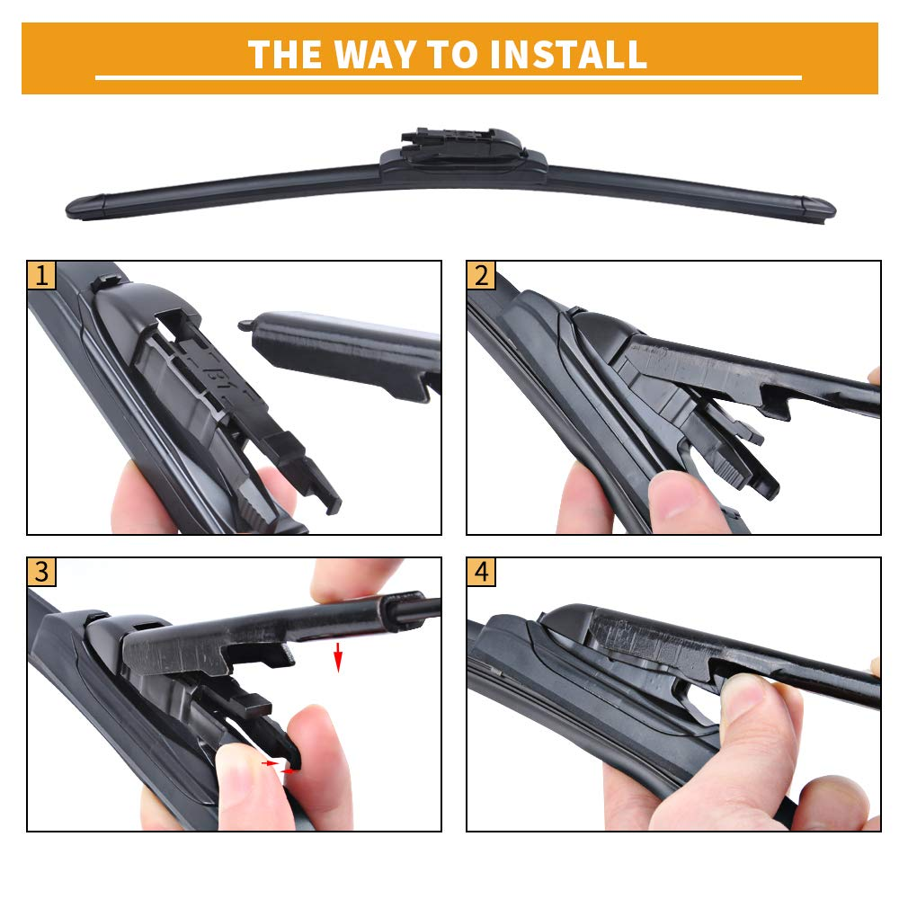 Windshield Wipers Blades 20 20 Original Equipment Replacement MIKKUPPA for 2008-2012 Ford Escape Front Wiper Pack of 2