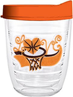 product image for Smile Drinkware USA-LOVE BASKETBALL 12oz Tritan Insulated Tumbler With Lid and Straw