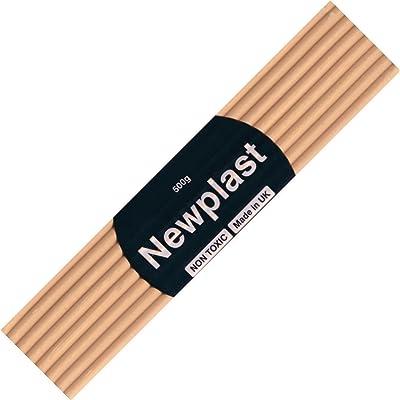 Newplast Plasticine, Peach Block of Modelling Material: Toys & Games