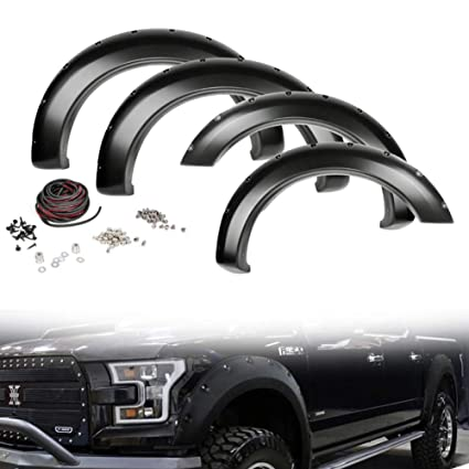 Splash Guards Front Rear 15-17 For F150 w// Fender Flares w// Wheel Openings