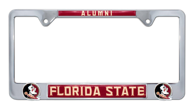 Elektroplate Florida State University Seminoles Crystal License Plate Frame