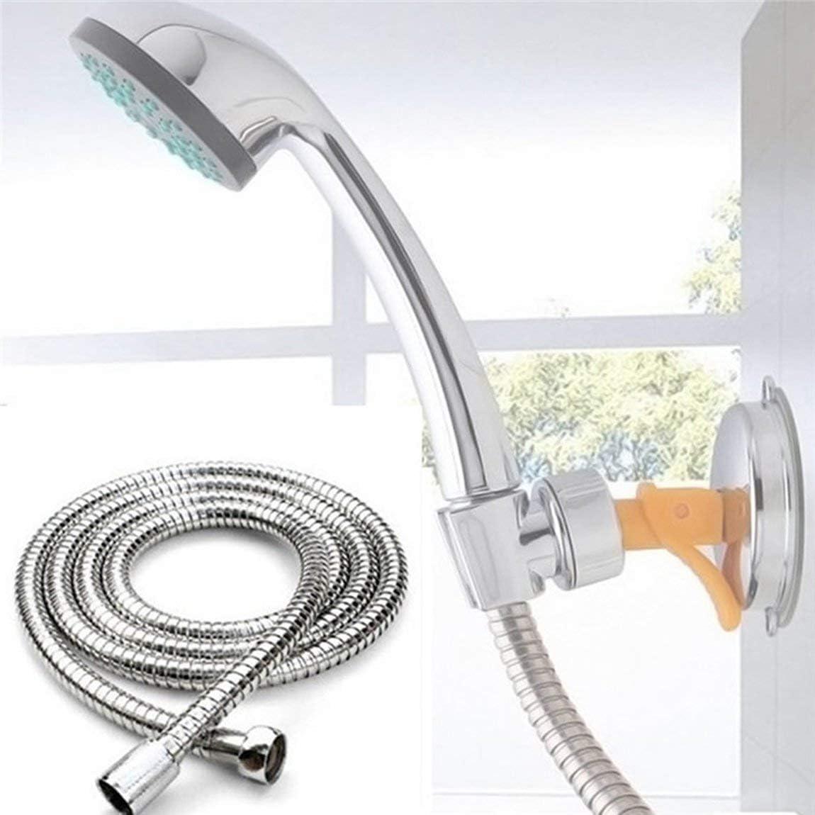 couleur: argent Tuyau flexible de salle de bains en acier inoxydable de tube de douche de plomberie durable avec r/ésistance /à hautes temp/ératures et