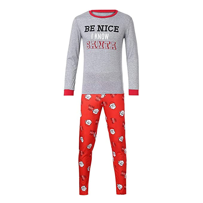 Cebbay Liquidación Navidad Pijamas de Hombre Ropa Familiar Decoración navideña una Navidad Llena de Amor (