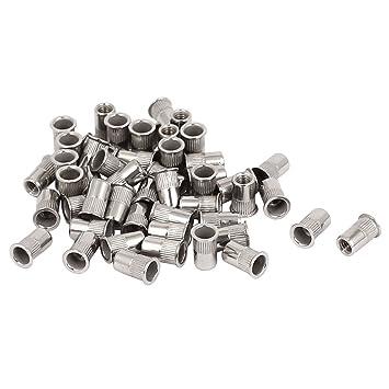 50 Blindnietmuttern M4 Flachkopf Stahl Nietmuttern r//r #