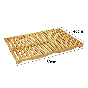 Zzaini Bambú Ranurado Tabla de Cortar, Moldes para Hornear Pan con recogedor de Migas de