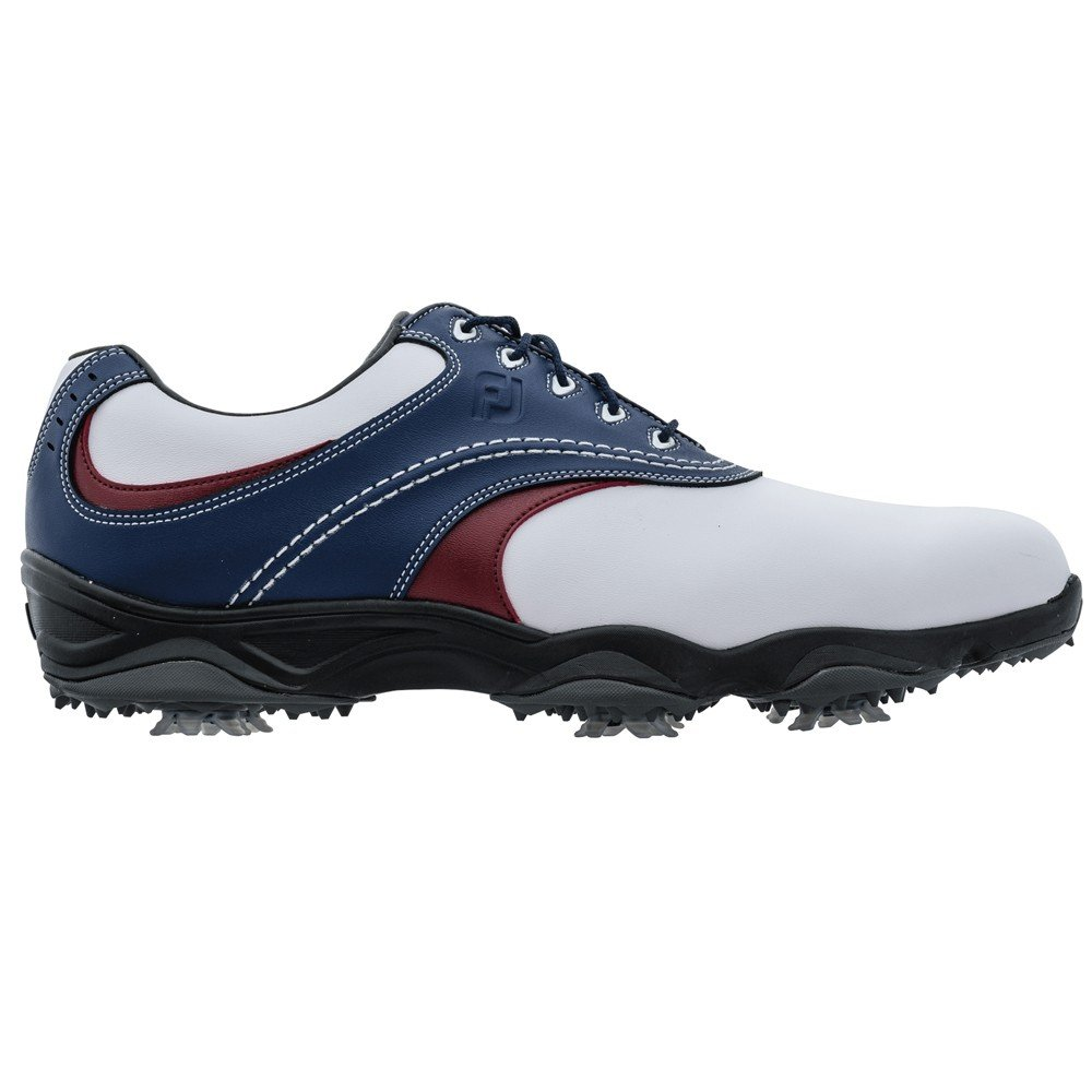Extra Wide Spiked Golf Shoes (White, UK