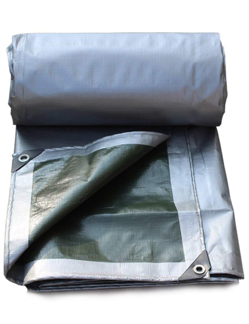 最新のデザイン DLyng シルバーグリーンの厚いターポリンのキャンバスカバー防水タープのテントキャンプのタフ 5m*5m B07GZL547W (Size DLyng : 5m*5m) 5m*5m B07GZL547W, キムチの希天家:5d0f4b6b --- mail.mrplusfm.net