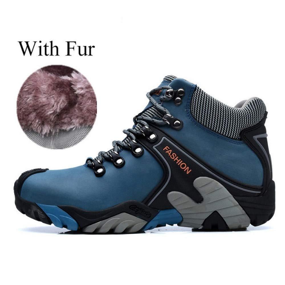 FHCGMX PU Leder Stiefeletten Winter Warme Schneeschuhe Männliche Schuhe Erwachsene Turnschuhe Für Männer Casual Walking Schuhe B07KQ77Y3S    Schön und charmant