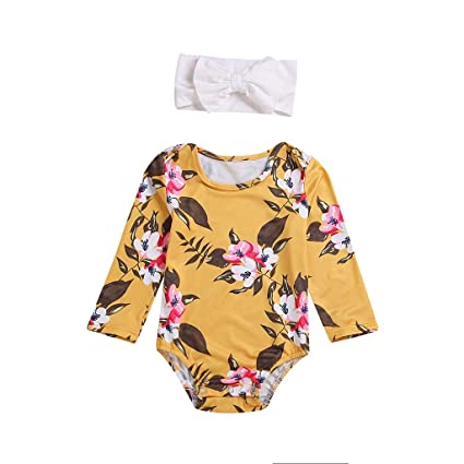 af433beebba Image Unavailable. Image not available for. Color  ❤ Mealeaf ❤ Newborn  Infant Baby Girls Romper Playsuit Bodysuit Outfits Clothes+Headband