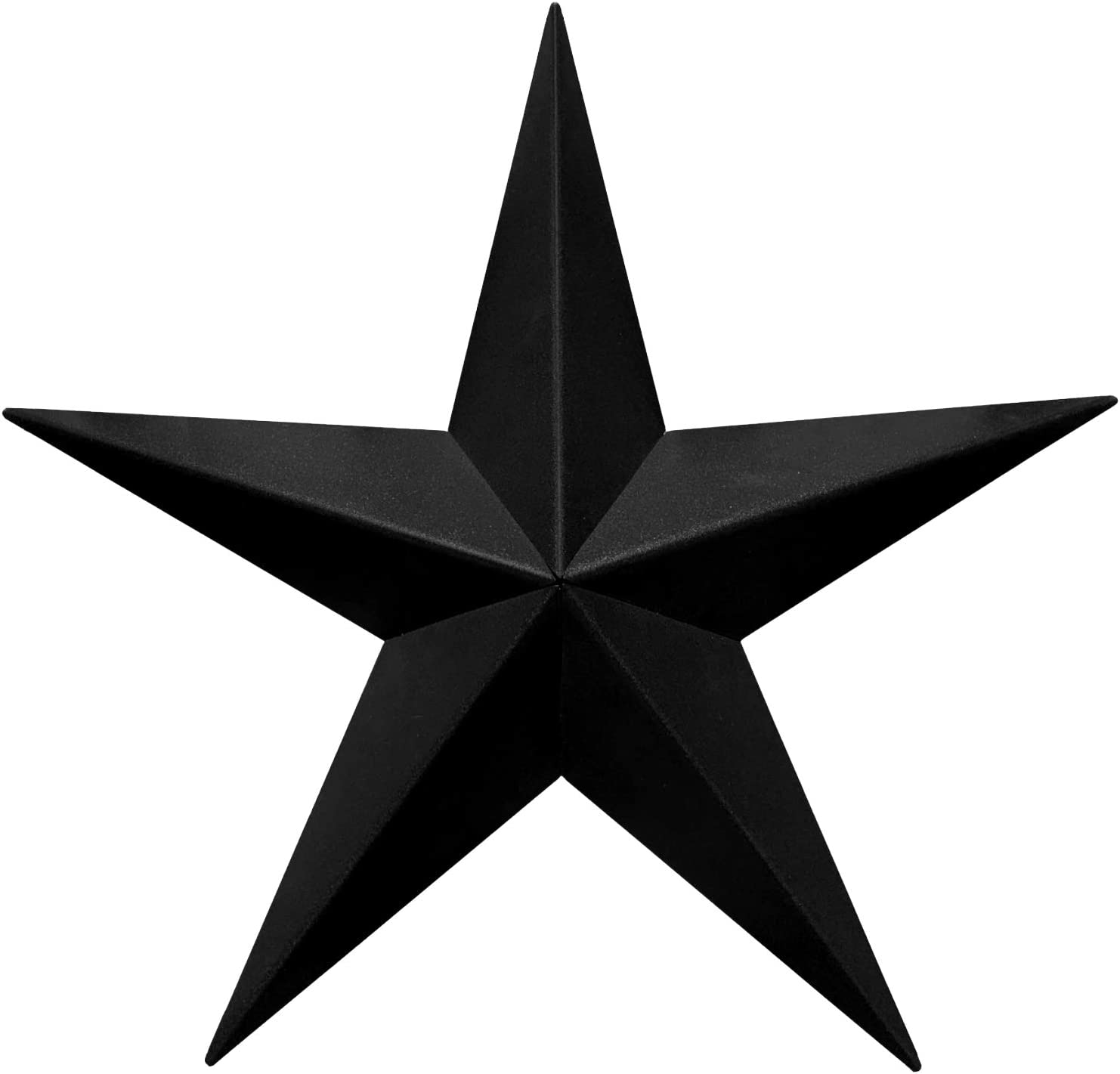 "EcoRise Black Barn Star – Star Wall Décor, Metal Stars for Outside or Inside of House, Iron Texas Metal Star Rustic Vintage Western Country Home Farmhouse Wall Art Decorations (22"")"