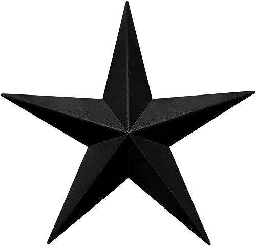 EcoRise Black Barn Star Star Wall D cor