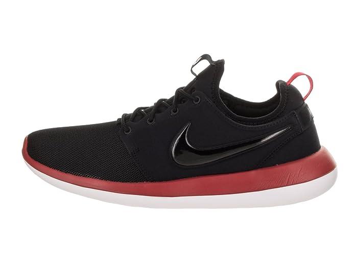 online store 54f33 34cd2 Amazon.com   NIKE Men s Roshe Two Black Black Gym Red White Running Shoe 11  Men US   Road Running