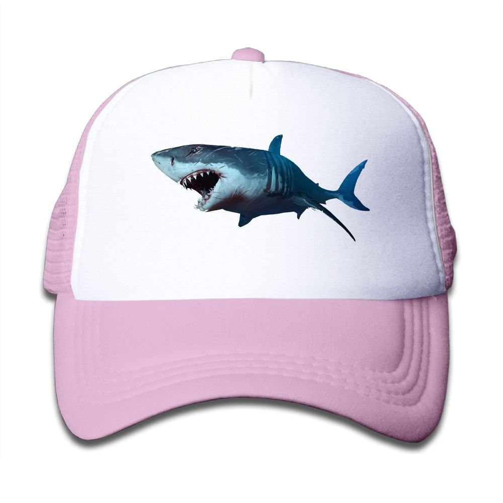 Cotton Wounded Shark Baseball Hat Adjustable Kids Mesh Caps Boy-Girl