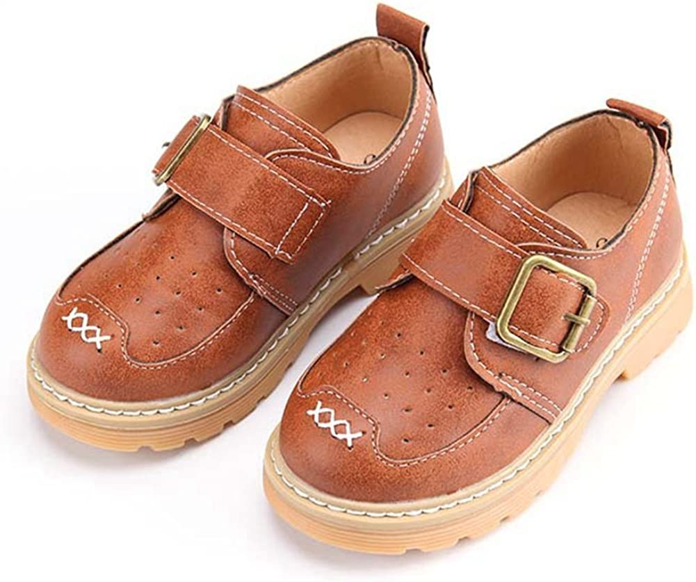 F-OXMY Boys Oxfords Dress Shoes Brogue Wing-Tip Burable Slip On Casual Shoes Toddler//Little Kid//Big Kid