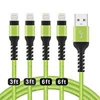 Deals on 4Pack Azhizco Charger Cable for iPhone