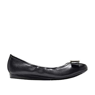 Cole Haan Womens Emory Bow Ballet Flat 5 Black