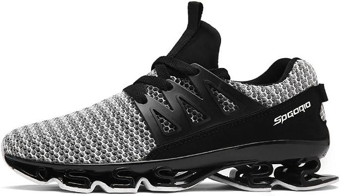 Zapatillas de deporte para hombre, para correr, caminar, correr, correr, correr, hacer deporte, fitness, zapatillas de baloncesto, estilo textil transpirable y antigolpes, 39 – 46: Amazon.es: Zapatos y complementos