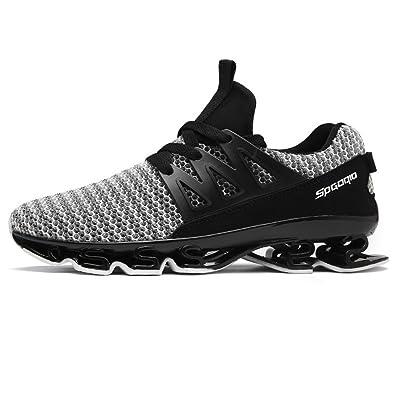 88489a039128b4 Homme Chaussure de Sport Outdoor pour Courir Marcher Running Jogging  Fitness Sneaker de Basket Mode Loisir
