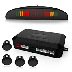 Parking Sensor,Car Vehicle Reverse Backup Radar System with LED Display 4 Parking Sensors