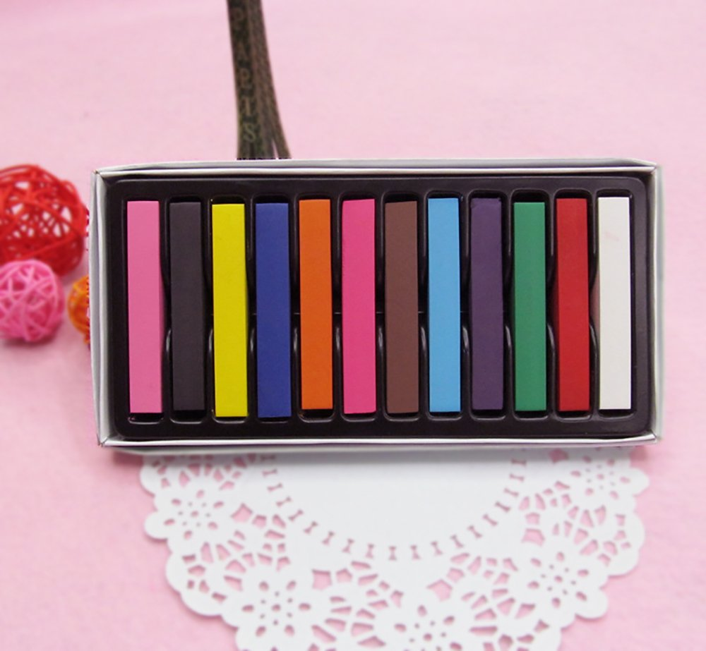 Temporary Hair Dye Color Non-Toxic Soft Pastels Chalk Colourful Hair Chalk Pens. Temporary Colour for Girls for All Ages. Makes a Great Birthday Gift (36 color) by BingHang (Image #4)