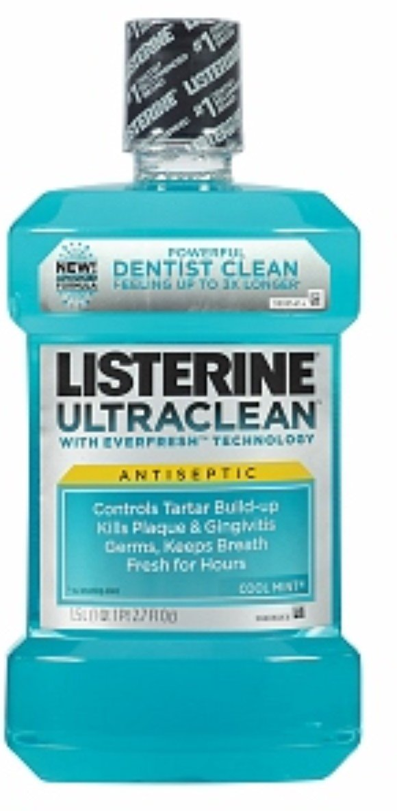 Listerine Ultraclean Antiseptic Cool Mint 1500 mL (9 Pack)
