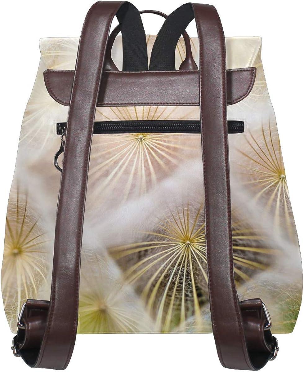 PU Leather Shoulder Bag,Nature Plant Blossom Fashion Backpack,Portable Travel School Rucksack,Satchel with Top Handle