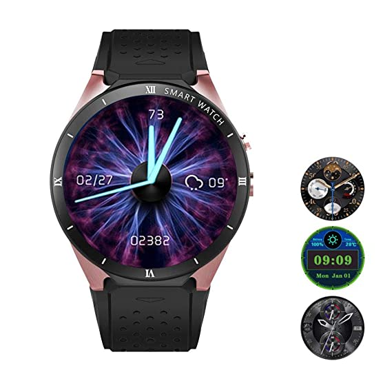 Amazon.com: Leegoal Bluetooth Smart Wristwatch, KW88 Pro ...