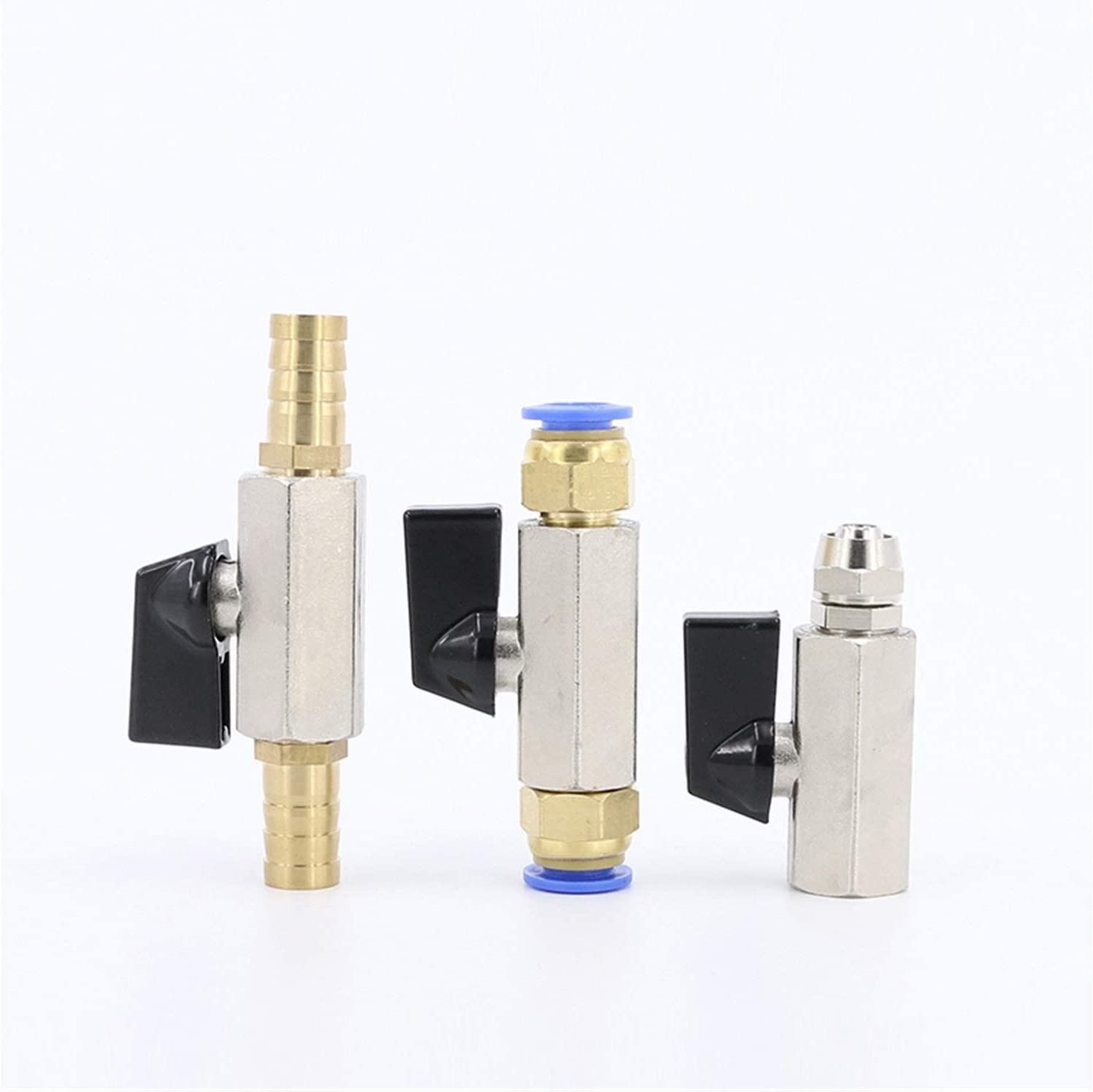 Mini Pneumatic Ball Valve Air Pump Valve Switch Deflation Water Valve Inner and Outer Wire Quick Connector Pagoda Color : A, Size : 12mm Joint
