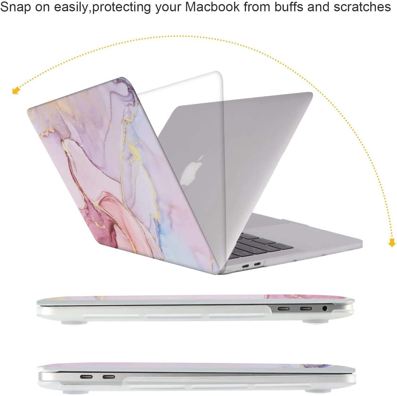 Plastic Hard Shell Case Protective Cover /& Keyboard Cover /& Screen Protector Only Compatible with New Macbook Pro 13 inch with Touch Bar /& Touch ID iCasso Macbook Pro 13 inch 2020 Release A2251 A2289 Creative Brain