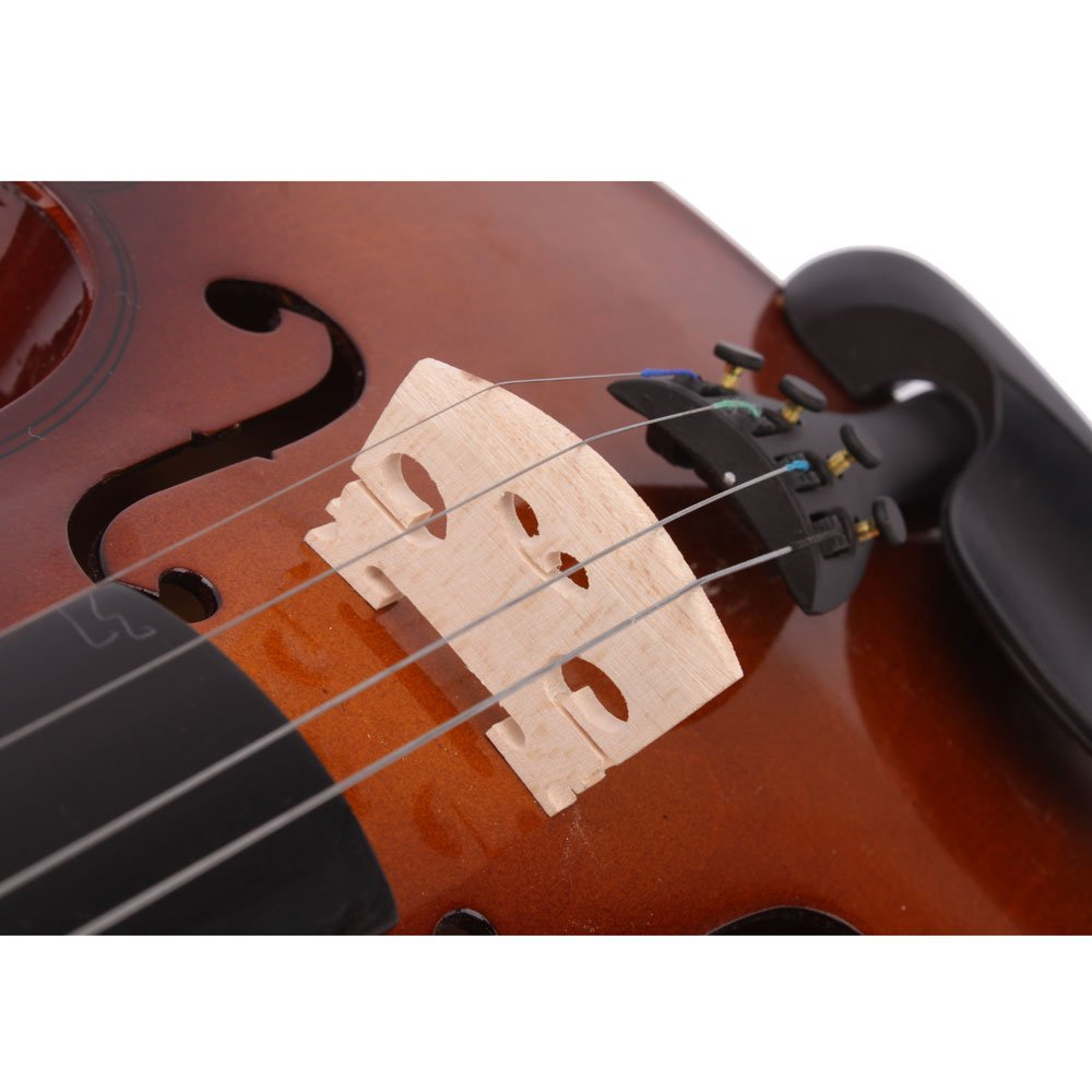 Lovinland 4/4 Acoustic Violin Natural Color Beginner Violin Full Size with Case Bow Rosin by Lovinland (Image #6)