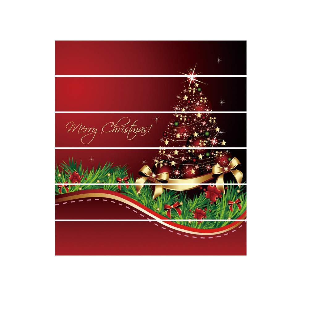 Mitlfuny Weihnachten Home TüR Dekoration 2019,Weihnachten 3D ...
