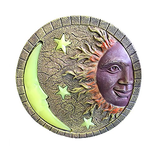 Glow in the Dark Sun & Moon Stepping Stone 10'' by Land & Sea