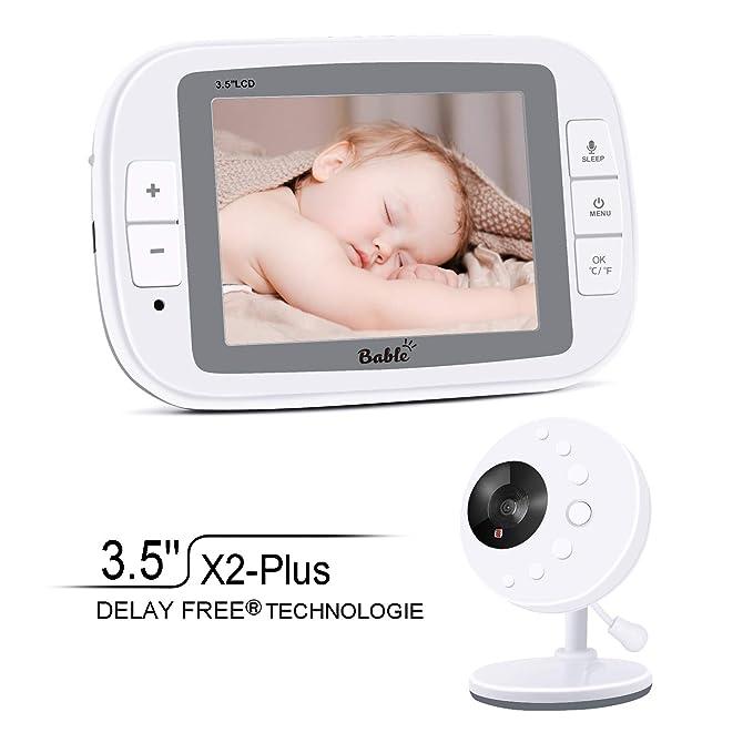 Bable Vigilabebe con Camara, X2-Plus Vigilabébé con Pantalla LCD a Color de 3.5