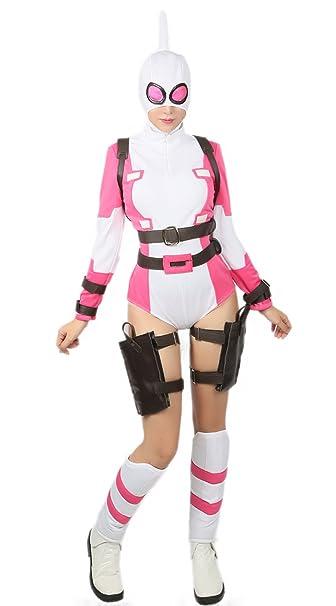 Amazon.com: xcostume gwenpool disfraz Deluxe traje cinturón ...