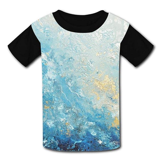 GAENM Sign Childrens 3D Summer Short Sleeve Printing T-Shirts