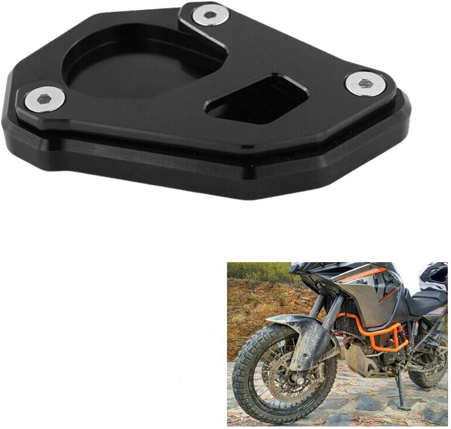 Semoic Kickstand Kick Side Stand Extension Plate Replace pour 1050 1090 1190 1290 Adventure 2013-2019 Black
