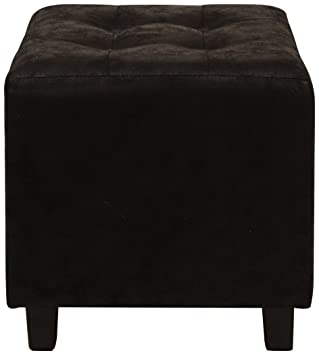 Stupendous Lux Home Antique Black Faux Leather Ottoman With Button Tufted Top Bralicious Painted Fabric Chair Ideas Braliciousco