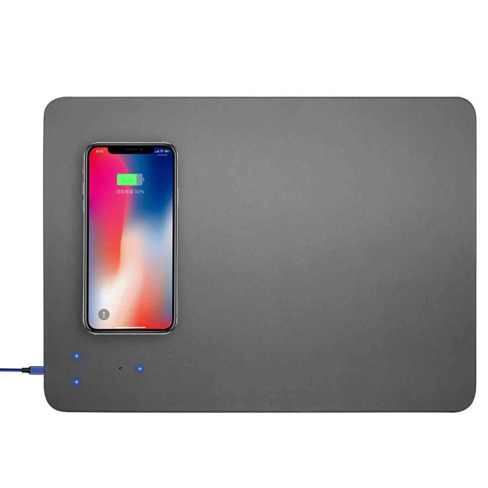 XIHAMA Cargador Rápido, Inalámbrico y Portátil Cargador Qi Alfombrilla de Ratón Compatible con Galaxy S8 / S8 Plus/Note 8, iPhone 8/8 Plus Base de ...