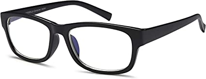 Computer Reading//Gaming//TV//Phones Glasses for UV Protection Anti Eyestrain TR90 Lightweight Frame Women /& Men Square, 0.00 X VVDQELLA Blue Light Blocking Glasses