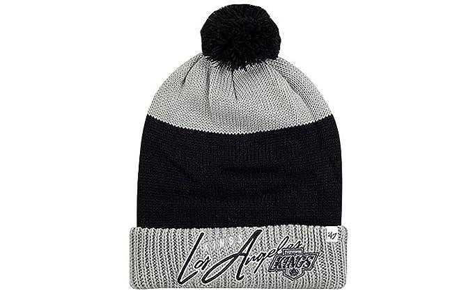 eb571b2dbe6 47 Brand NHL Wintermütze Los Angeles Kings Mütze hustle cut Knit hat pom   Amazon.de  Bekleidung