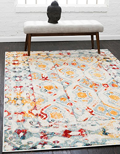 Unique Loom Rosso Collection Vintage Traditional Distressed Multi Area Rug (5