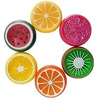 Ogquaton 6 Pcs Creative Drôle Fruit Slime Non-Toxique Argile De Cristal DIY Doux Slime pour Kid Puzzle Jouets
