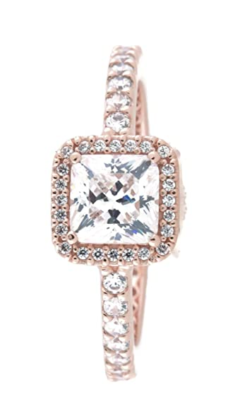 66be1238d Amazon.com: PANDORA Timeless Elegance Ring, PANDORA Rose, Clear Cubic  Zirconia, Size 5: Jewelry