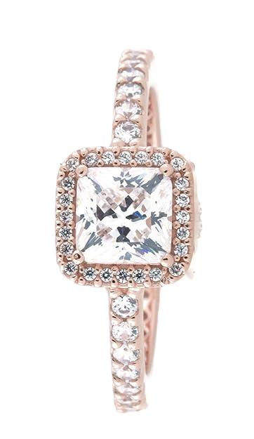 ca64adad3a172 PANDORA Timeless Elegance Ring, PANDORA Rose & Clear CZ 180947CZ-50 ...