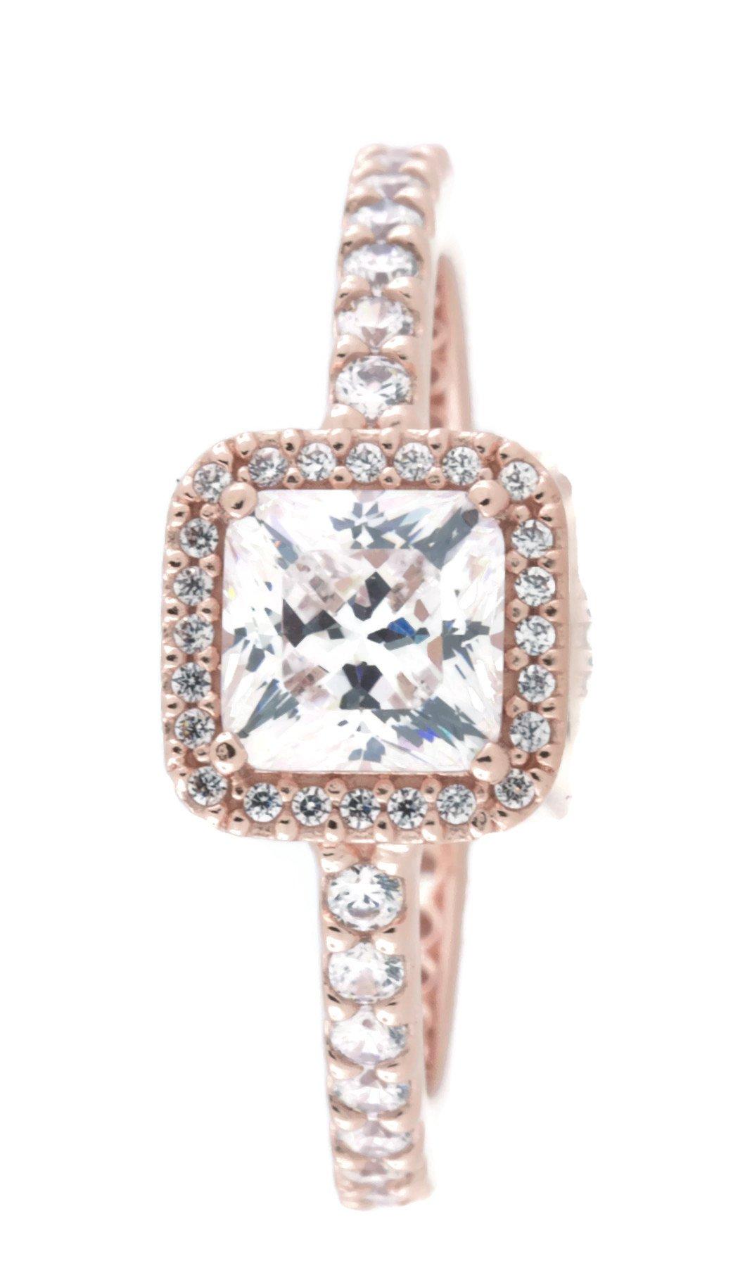 Pandora Timeless Elegance Ring, Pandora Rose, Clear CZ, 7 US, 180947CZ-54